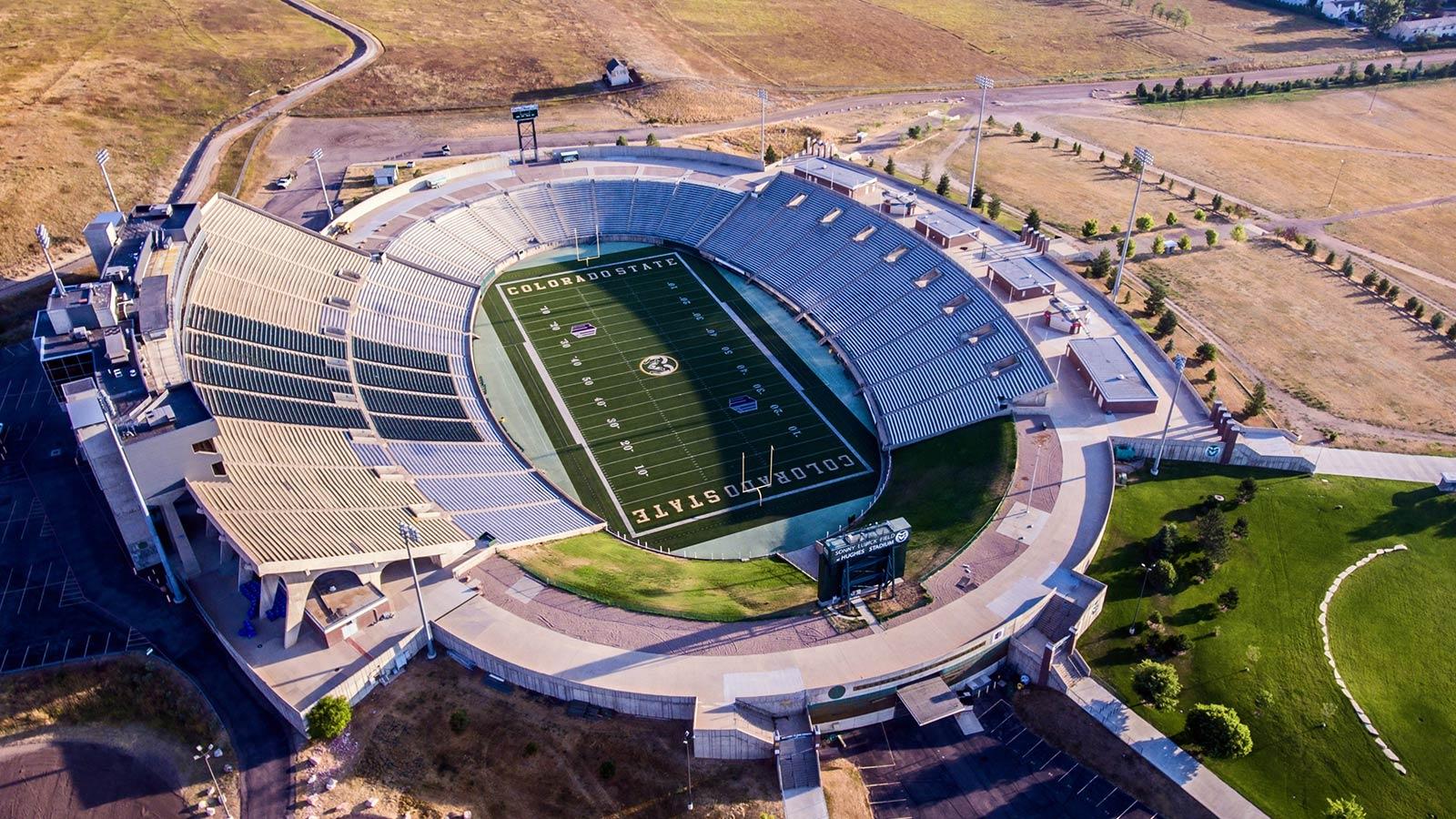 Aerial view of the CSU football stadium