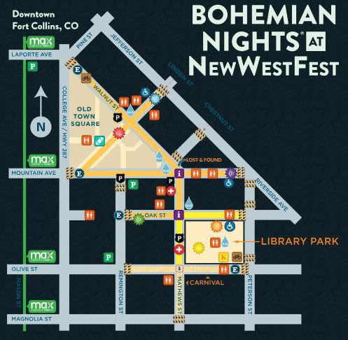 Map for New-West-Fest at Fort Collins
